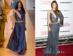 Jessica Biel In Versace - 'Playing for Keeps' New York Premiere