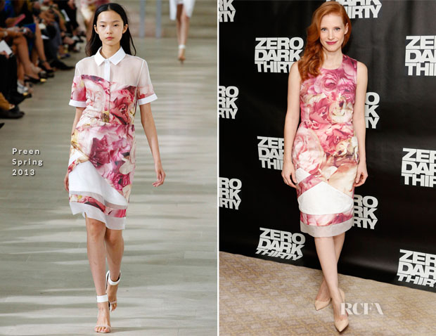 Jessica Chastain In Preen - 'Zero Dark Thirty' New York Photocall