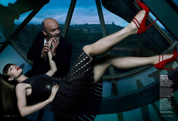 Azzedine Alaïa dress and Christian Louboutin heels