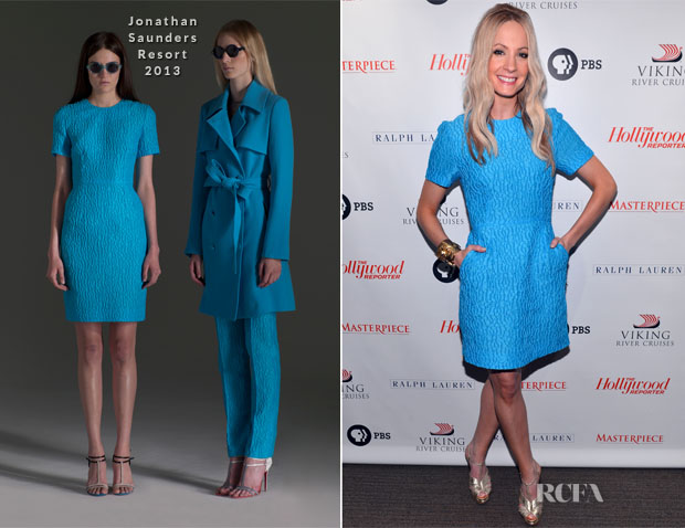 Joanne Froggatt In Jonathan Saunders - The Hollywood Reporter Screening Of 'Downton Abbey' Season 3