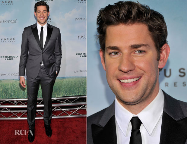 John Krasinski In Calvin Klein - 'The Promise Land' New York Premiere