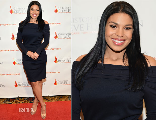 Jordin Sparks In Nicole Miller -  Christopher & Dana Reeve Foundation's A Magical Evening Gala