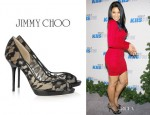 Jordin Sparks' Jimmy Choo Belgio Lace Pumps