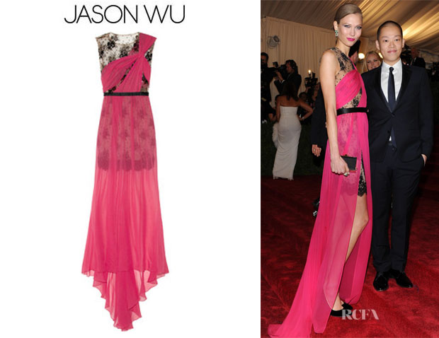 Karlie Kloss' Jason Wu Embellished Lace Gown