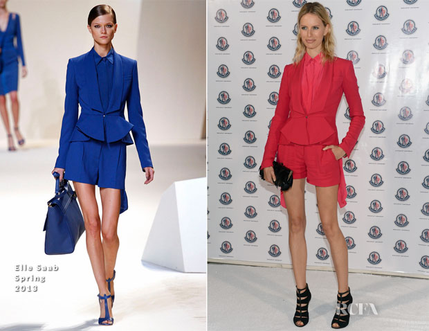 Karolina Kurkova In Elie Saab - Moncler Celebrates 60th Anniversary Art Basel Miami Party