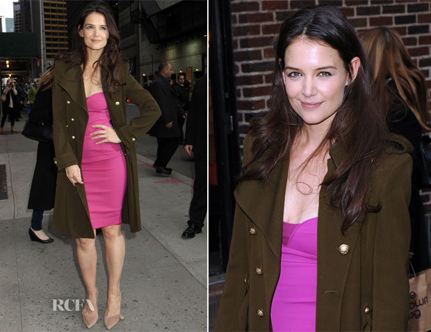 Kate Holmes In Narciso Rodriguez - Late Show with David Letteman