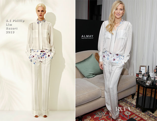 Kate Hudson In 31 Phillip Lim - Almay Intense i-Color Bold Nudes And Smart Shade Mousse Makeup Launch