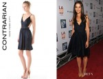 Katie Holmes' Contrarian Babs Bibb Mini Dress