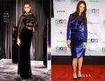 Katie Holmes In Tom Ford - 12-12-12 Concert