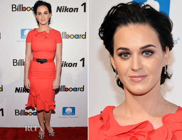 Katy Perry In Oscar de la Renta – 2012 Billboard Women in Music Luncheon