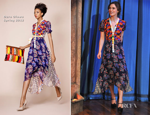 Keira Knightley In Duro Olowu - Late Night With Jimmy Fallon