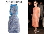 Keira Knightley's Richard Nicoll Silk Jacquard Dress
