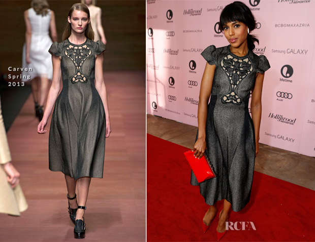 Kerry Washington In Carven - Hollywood Reporter's 21st Annual Women In Entertainment Breakfast