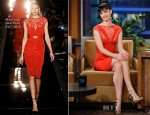 Krysten Ritter In Monique Lhuillier - The Tonight Show with Jay Leno