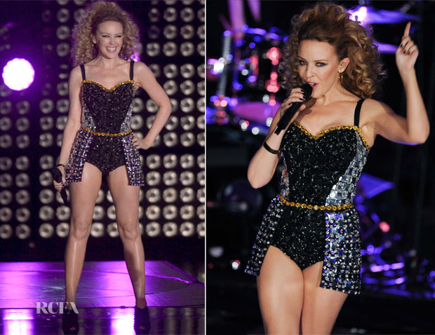 Kylie Minogue In Dolce & Gabbana - X Factor Italy