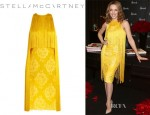 Kylie Minogue's Stella McCartney Fringed Lace And Crepe Dress
