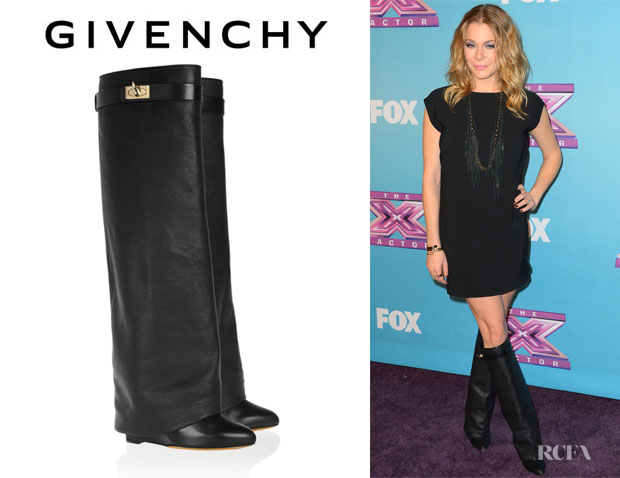 LeAnn Rimes' Givenchy Leather Wedge Knee Boots