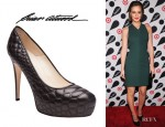 Leighton Meester's Brian Atwood Maniac Quilted Pumps