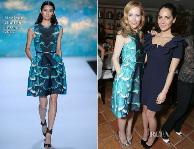 Leslie Mann In Monique Lhuillier  - Marie Claire's Hollywood Dinner