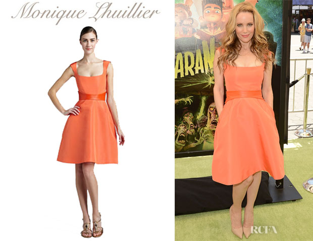 Leslie Mann's Monique Lhuillier Sleeveless Dress