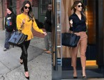 Lily Aldridge In Alexander Wang & Gucci  - Out In New York City