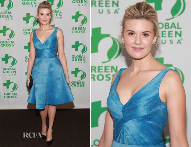 Maggie Grace In Oliver Tolentino - Global Green USA 13th Annual Sustainable Design Awards