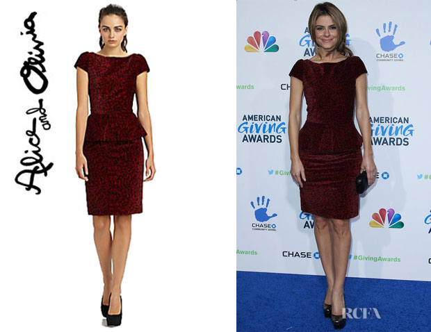 Maria Menounos' Alice + Olivia Jule Peplum Dress
