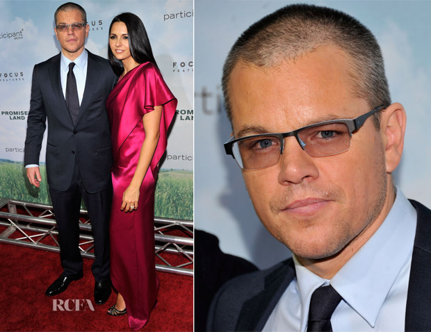 Matt Damon In Ermenegildo Zegna - 'Promise Land' New York Premiere
