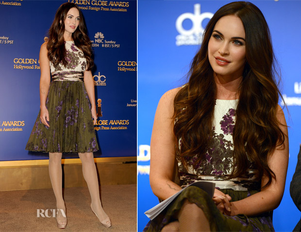 Megan Fox In Giambattista Valli - 70th Annual Golden Globe Awards Nominations Announcement