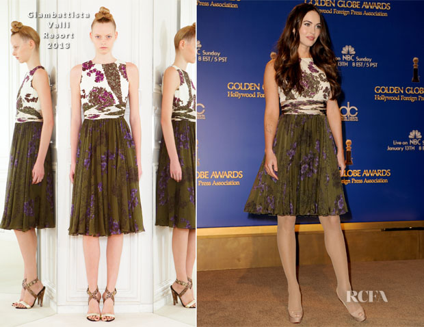 Megan Fox In Giambattista Valli R13 - 70th Annual Golden Globe Awards Nominations Announcement