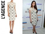 Megan Fox's L'Agence Floral Lace Dress
