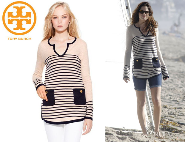Michelle Monaghan's Tory Burch Odessa Striped Tunic
