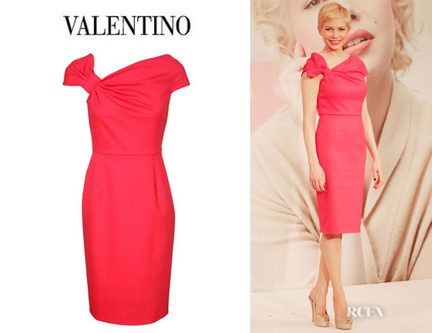 Who Michelle Williams Wearing A Valentino Bow Dress