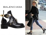 Miley Cyrus' Balenciaga Buckle Ankle Boots