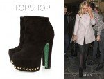 Mollie King's Topshop Shadow Bolt Ankle Boots by CJG