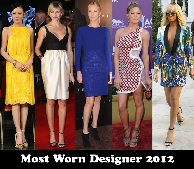 Most Worn Designer 2012