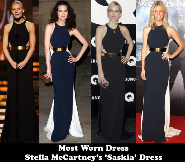 Most Worn Dress Stella McCartney's 'Saskia' Gown
