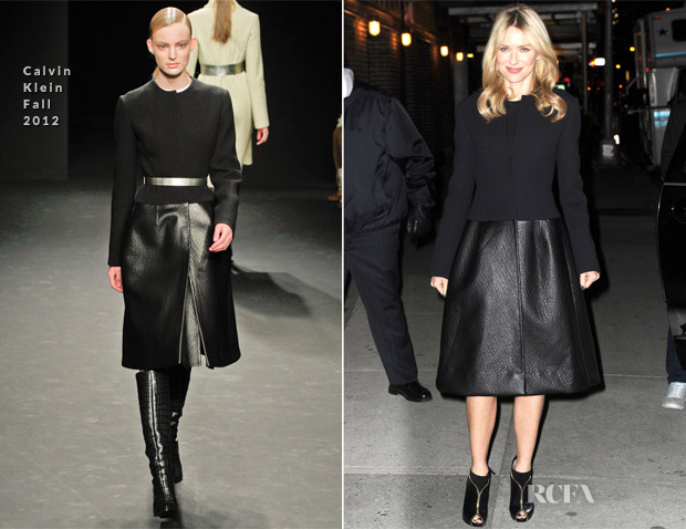 Naomi Watts In Calvin Klein - Late Show with David Letterman