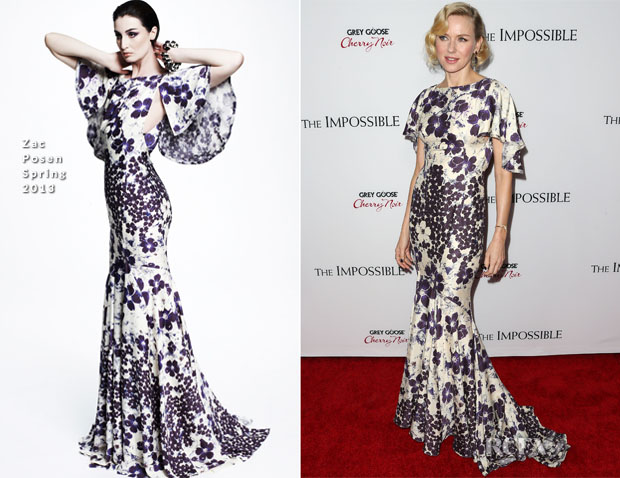 Naomi Watts In Zac Posen - 'The Impossible' LA Premiere