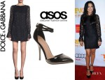 Naya Rivera's Dolce & Gabbana Lace Dress And ASOS Prior Pointed High Heels