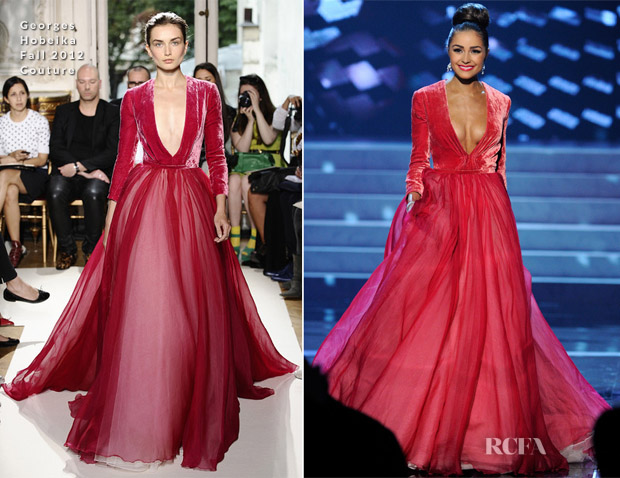 Olivia Culpo In Georges Hobeika Couture - 2012 Miss Universe Pageant