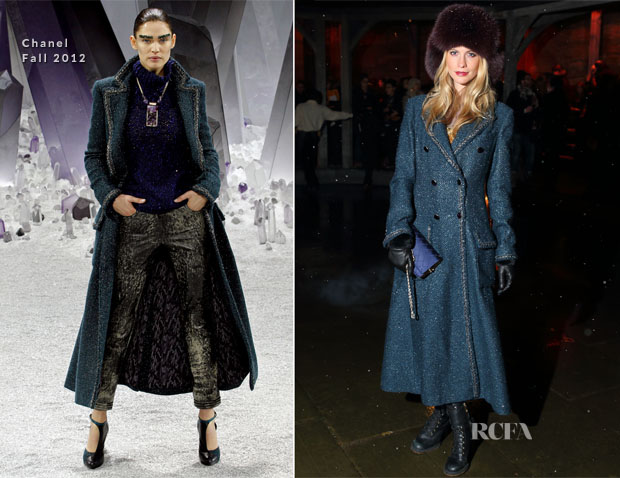 Poppy Delevingne In Chanel - Chanel Metiers d'Art Pre-Fall 2013 Fashion Show