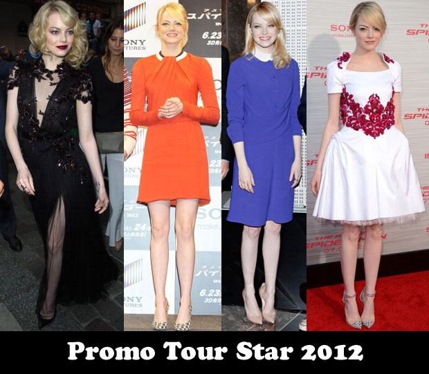 3295c353b39e Promo Tour Star 2012 – Emma Stone for  The Amazing Spider-Man . Emma Stone  ...