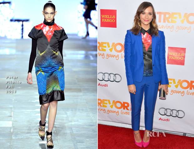 Rashida Jones In Celine & Peter Pilotto - 'Trevor Live' Event