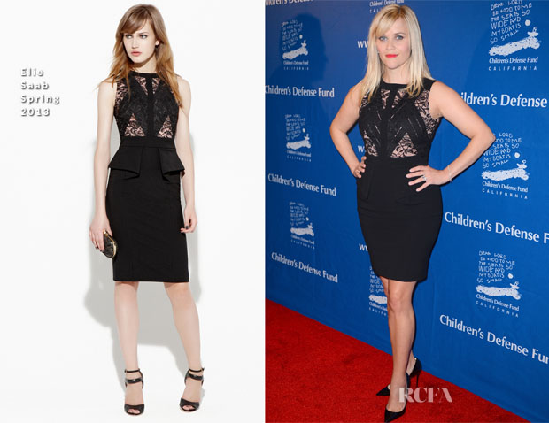 Reese Witherspoon In Elie Saab - 2012 Children's Defense Fund Beat The Odds Awards