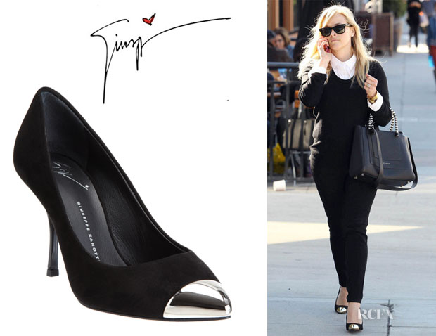 Reese Witherspoon's Giuseppe Zanotti Asymmetric Cap Toe Pumps