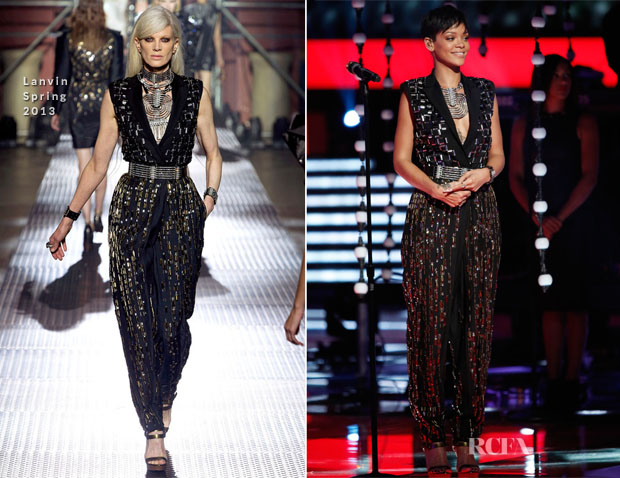 Rihanna In Lanvin - The Voice Finale