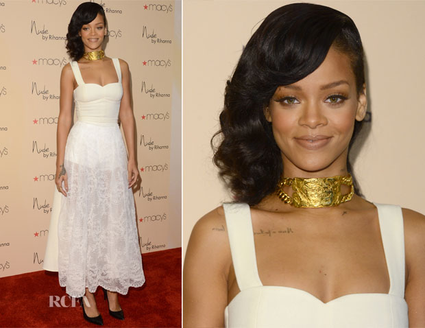 Rihanna In Nini Nguyen - 'Nude' Fragrance Launch
