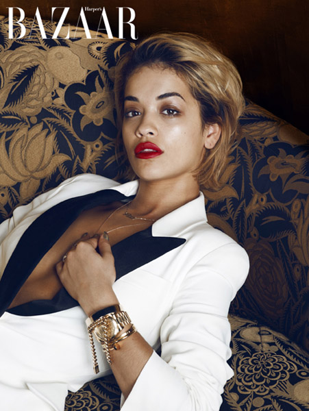 Rita Ora for January Issue of Harper's Bazaar