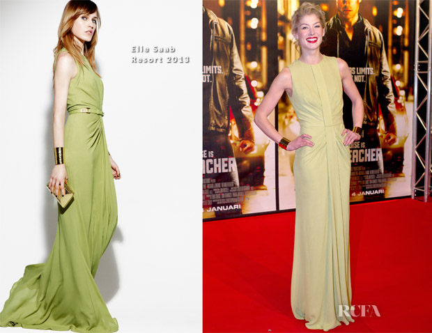 Rosamund Pike In Elie Saab R13 - 'Jack Reacher' Stockholm Premiere